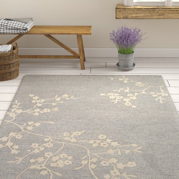 Kerney Hand-tufted Gray/Beige Area Rug by Ophelia & Co.