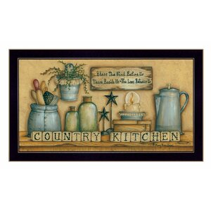 'Country Kitchen' Framed Graphic Art Print by Trendy Decor 4U