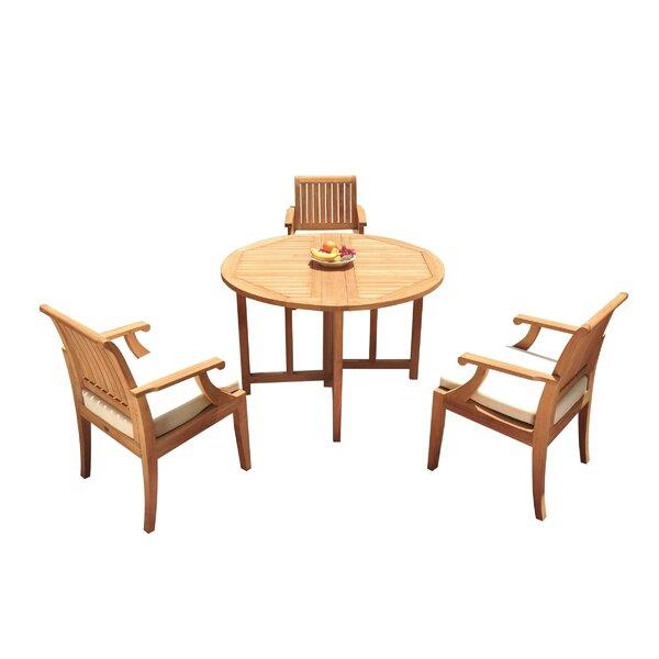 Jaylan 4 Piece Teak Dining Set by Rosecliff Heights