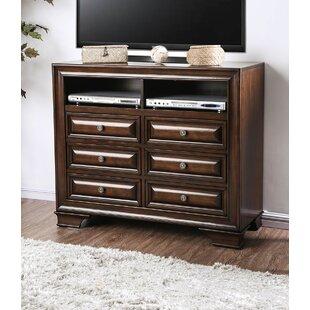 Bellamy Wooden Media 6 Drawer Standard Dresser/Chest By Alcott Hill