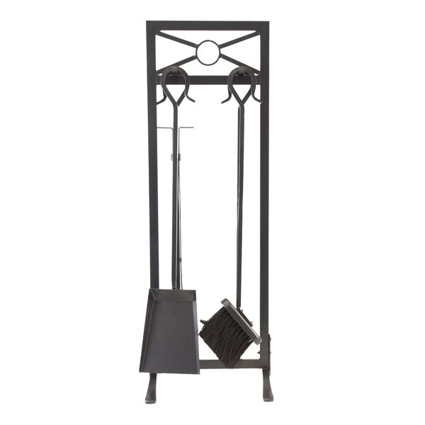 Sheffield 5 Piece Steel Fireplace Tool Set by Pleasant Hearth