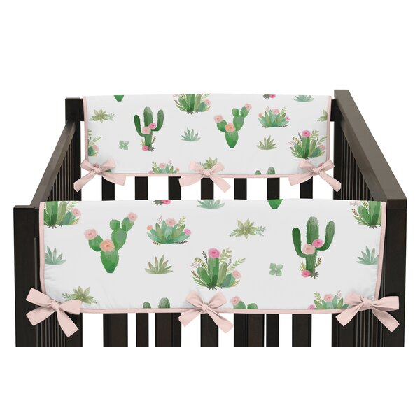 Cactus Floral Crib Rail Guard Cover (Set of 2) by Sweet Jojo Designs