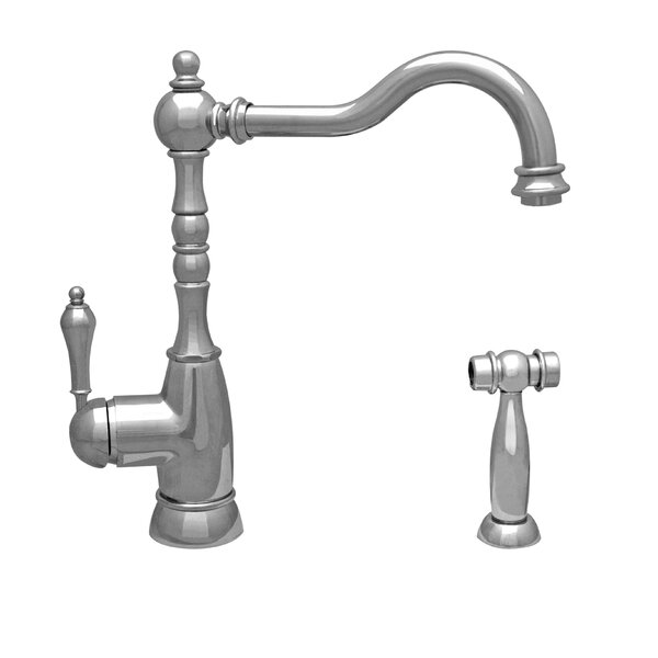 Englishhaus Single Handle Kitchen Faucet with Side Spray by Whitehaus Collection
