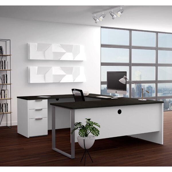 Hartleton U-Shape Executive Desk by Latitude Run