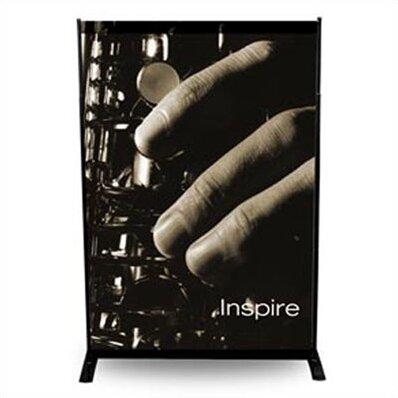 24 - 48 Width Adjustable Powerframe Banner Display Stand by Pinquist Tool & Die
