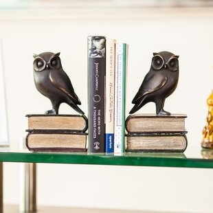 Strikingly Idea Bird Bookends. Owl on Book Bookends Set  of 2 Birch Lane