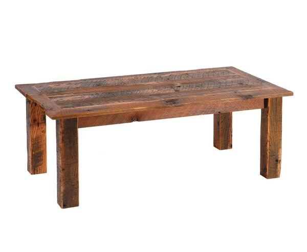 Reclaimed Barnwood Coffee Table by Fireside Lodge