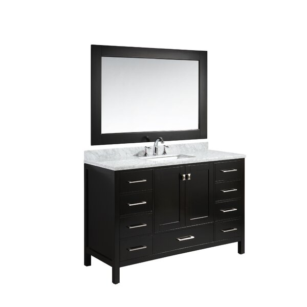 Middletown 54 Single Bathroom Vanity Set with Mirror by Andover Mills