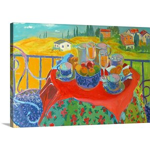 'Tuscan Terrace' by William Ireland Painting Print on Wrapped Canvas by Great Big Canvas