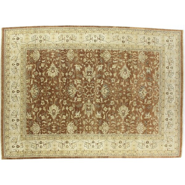 Ziegler Hand-Knotted Wool Brown/Beige Area Rug by Exquisite Rugs