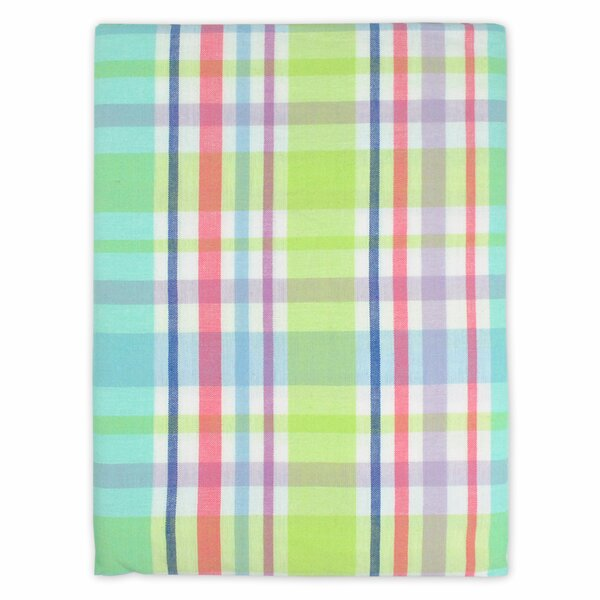 Spring Plaid Round Tablecloth by Design Imports