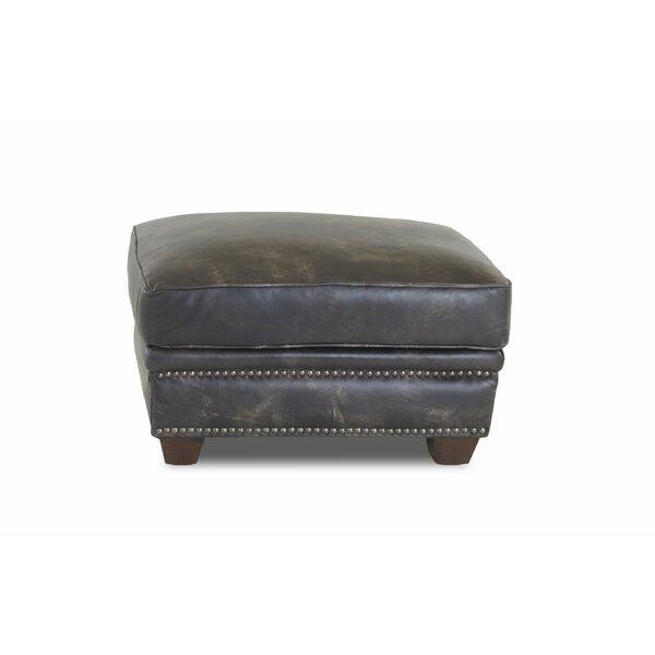 Sasha Leather Ottoman by Foundry Select