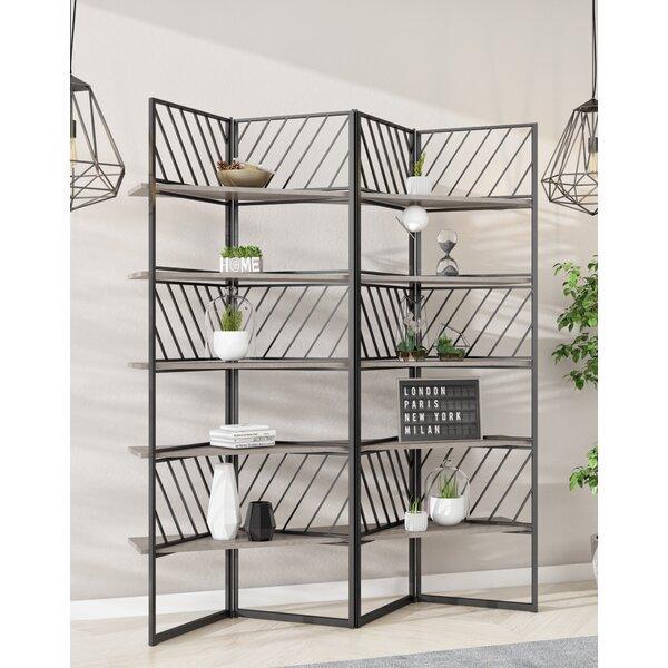Tonquin Concrete & Metal Geometric Bookcase By Williston Forge