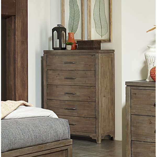 Saucedo 5 Drawer Chest by Union Rustic