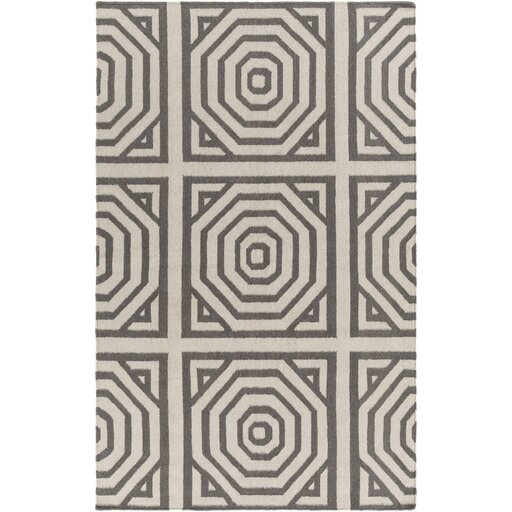 Francis Tufted Cotton Gray/Ivory Area Rug by Bungalow Rose