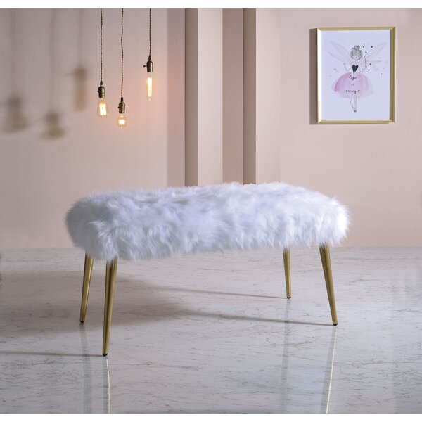 Suzette Upholstered Bench By Everly Quinn