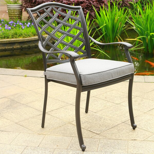 Dalessio Patio Dining Chair with Cushion (Set of 2) by Darby Home Co Darby Home Co