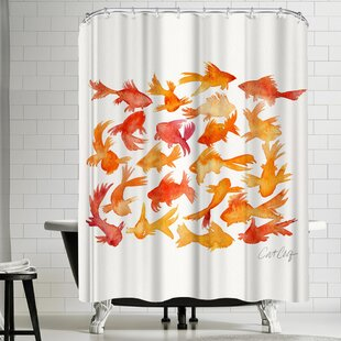 Golfish Single Shower Curtain