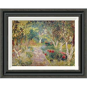 'A Woodland Park' by Spencer Frederick Gore Framed Painting Print by Global Gallery
