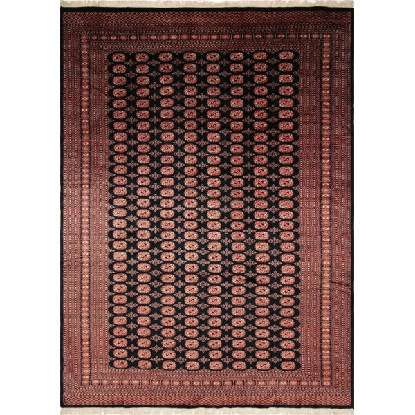 One-of-a-Kind Urgeon Hand-Knotted Black Area Rug by World Menagerie