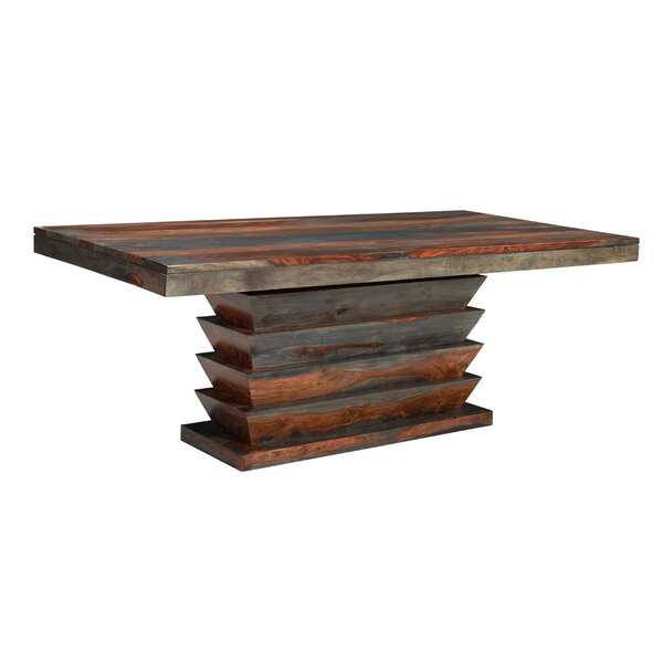 Monroy Solid Wood Dining Table by World Menagerie