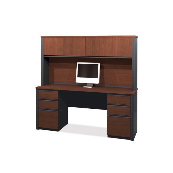 Bormann Credenza Desk with Hutch by Red Barrel Studio