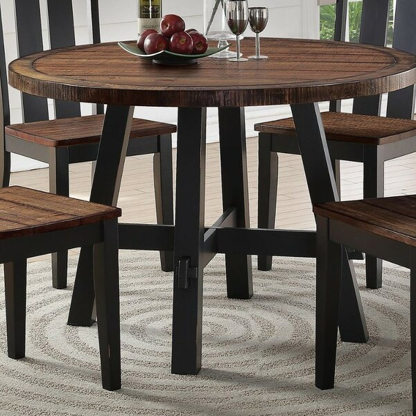 Whyte Cottage Solid Wood Dining Table by Millwood Pines