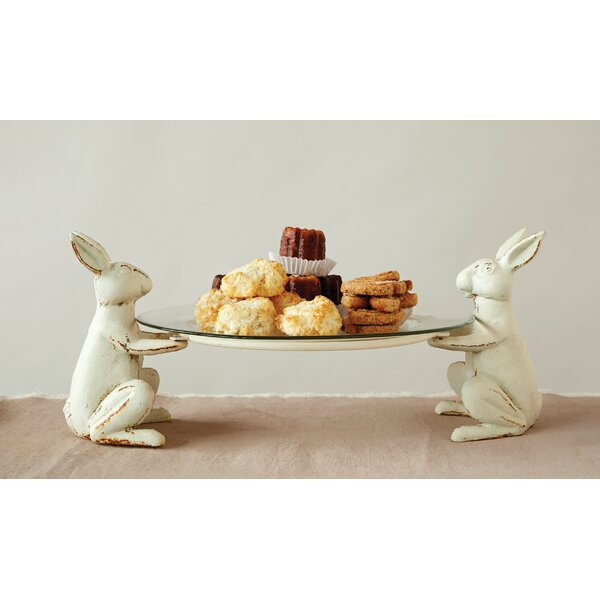 Knopf Cast Decorative Plate with Iron Rabbit Holder by Ophelia & Co.