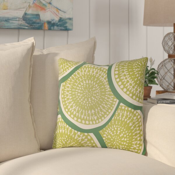 Tommy Indoor / Outdoor Geometric Throw Pillow By Highland Dunes