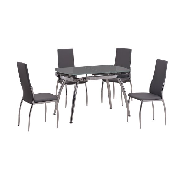 Luna 5 Piece Dining Set by Orren Ellis Orren Ellis