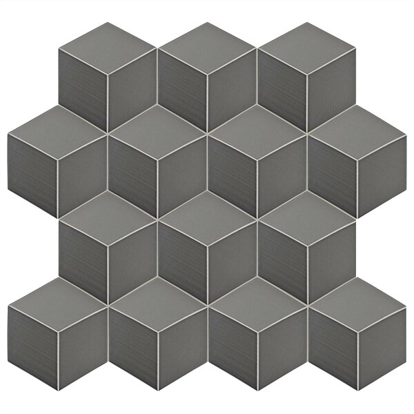 Concrete 8.88 x 10.13 Porcelain Field Tile in Gray by EliteTile