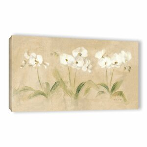Row Orchids Painting Print on Wrapped Canvas by Lark Manor