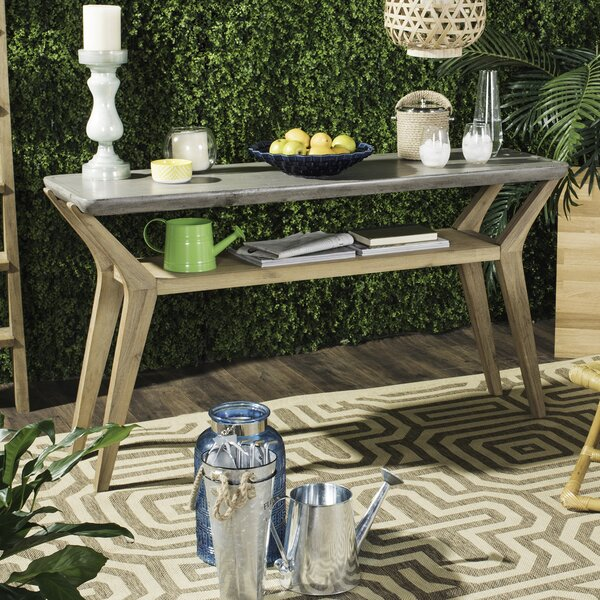 """TBD 55.12"""" Solid Wood Console Table by Union Rustic"""