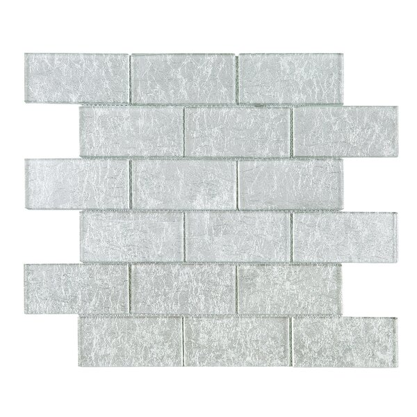 Galaxy 2 x 4 Glass Mosaic Tile in Gray by Multile