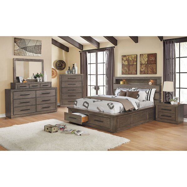 Channelle Queen Solid Wood 5 Piece Bedroom Set By Union Rustic