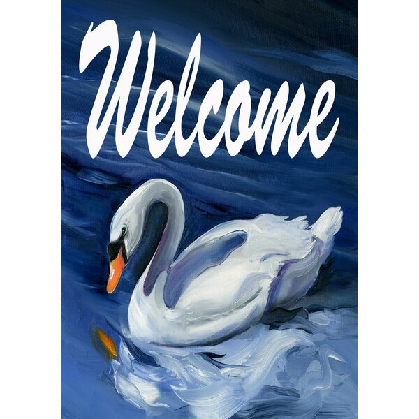 Swan Welcome 2-Sided Garden flag by Toland Home Garden