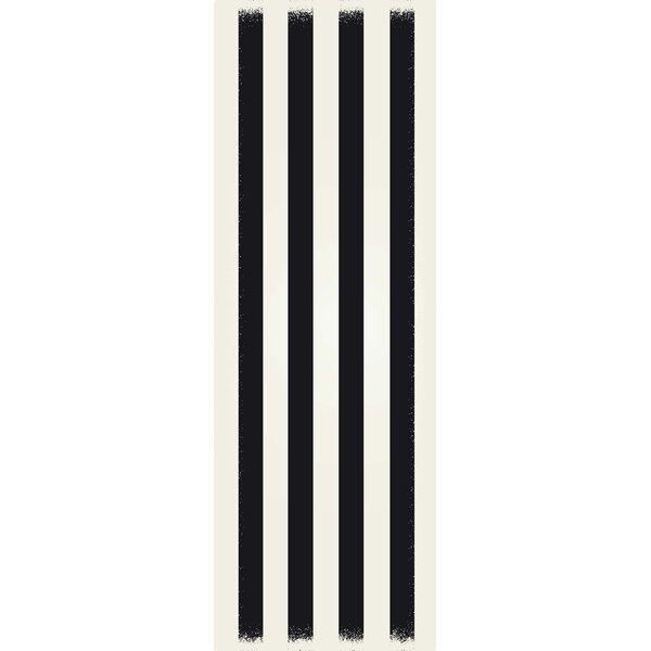 Cronk Strips Design Black/White Indoor/Outdoor Area Rug by Breakwater Bay