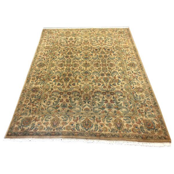 One-of-a-Kind Lybarger Hand-Knotted Wool Gold/Beige Area Rug by Astoria Grand