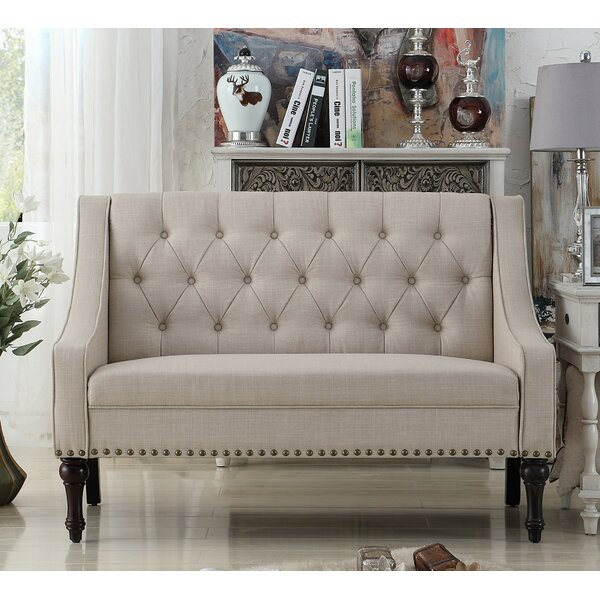 Christiansburg Tufted Standard Loveseat by Alcott