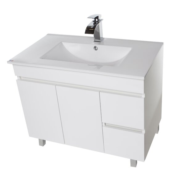 Loftin 41 Wall Mounted Single Bathroom Vanity Set by Ivy Bronx