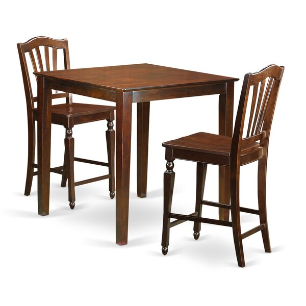 Neven 3 Piece Pub Table Set by Charlton Home