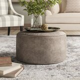 24 Round Pouf Ottoman by Laurel Foundry Modern Farmhouse