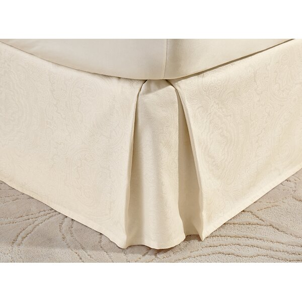 Deveral Cotton Naturals Jacquard Bed Skirt by Willa Arlo Interiors