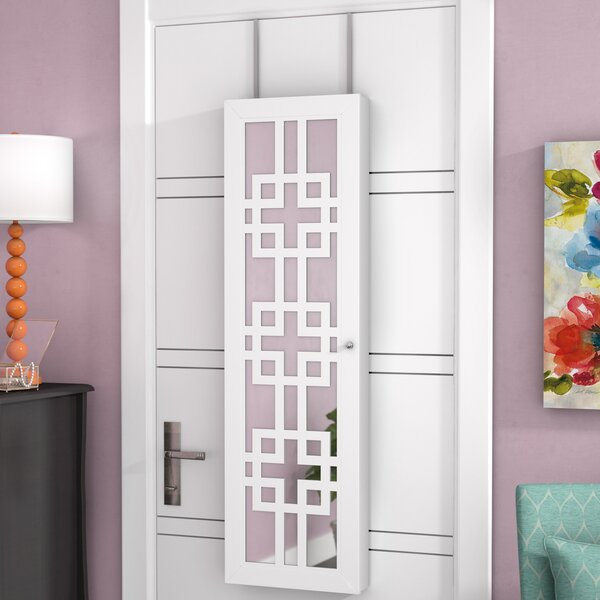 Modern Over The Door Jewelry Armoire with Mirror by Mercury Row