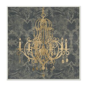 Damask Chandelier' Graphic Art Print by Stupell Industries