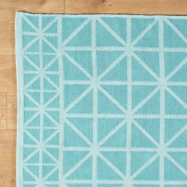 Tri Your Best Aqua Reversible Rug by Birch Lane Kids™