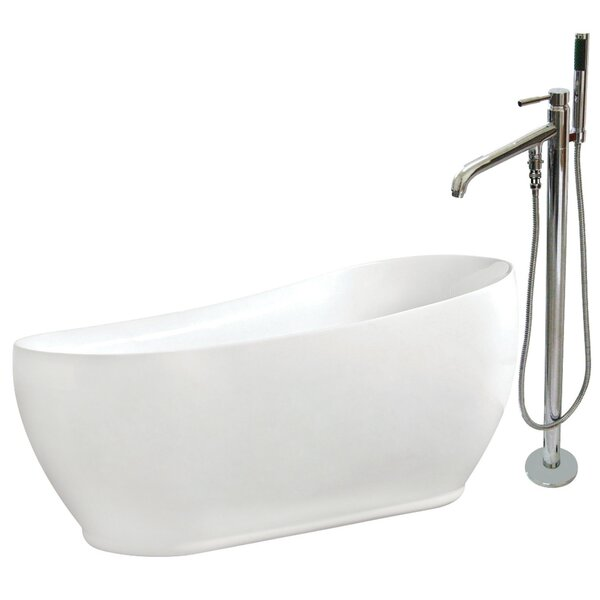 71 x 33 Freestanding Soaking Bathtub by Kingston Brass