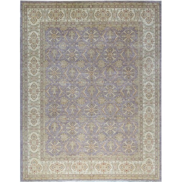 Ziegler Hand Knotted Wool Lavender/Ivory Rug
