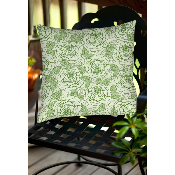 Rose Tonic Indoor/Outdoor Throw Pillow by Manual Woodworkers & Weavers