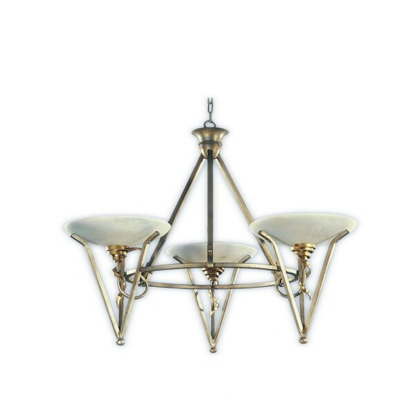 Genova 3 - Light Shaded Wagon Wheel Chandelier by Zanin Lighting Inc. Zanin Lighting Inc.